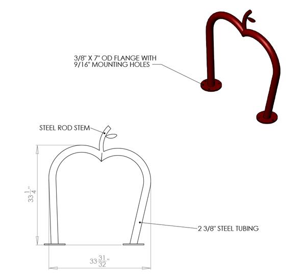 APPLE-2-SF-Custom-Rack-Drawing