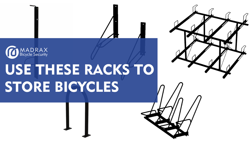 Bicycle racks to use for bicycle storage.