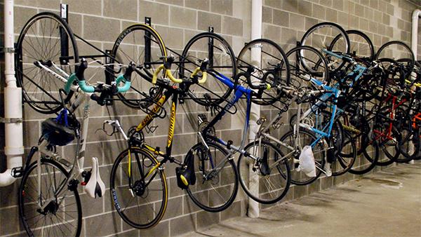 Bike Racks Installed Around Obstructions