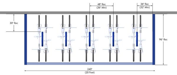 Bike-Corral-Perpendicular-to-Curb-Bike-Rack-Layout