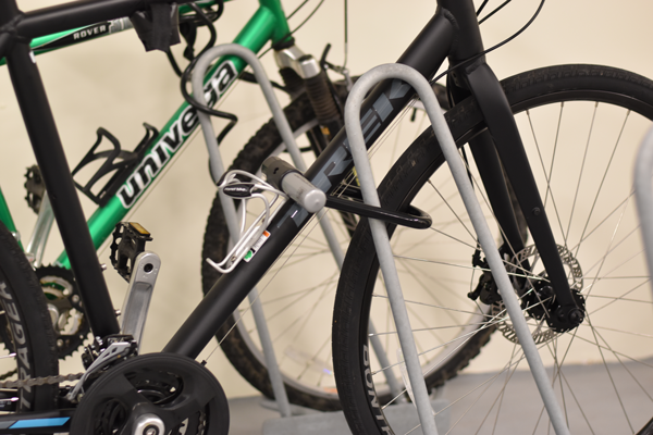 Bike-Locked-to-Shark-Bike-Rack-with-U-Lock
