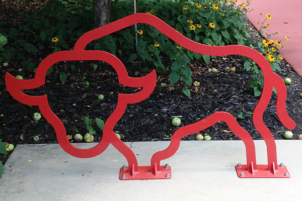 Bison-Logo-Custom-Bike-Rack