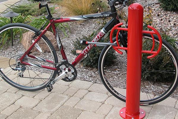 Bollard-Logo-Custom-Bike-Rack