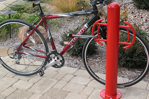 Bollard-Logo-Custom-Bike-Rack