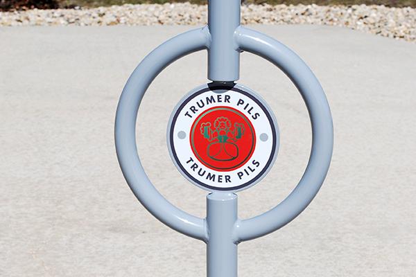 Custom-Post-and-Ring-Logo-Bike-Rack