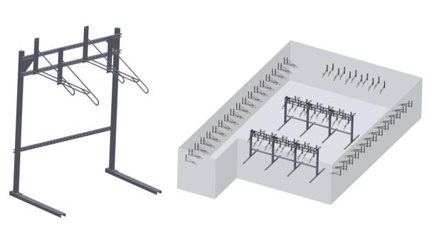 Freestanding Vertical Bike Racks