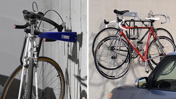Horizontal Wall Bike Storage Racks