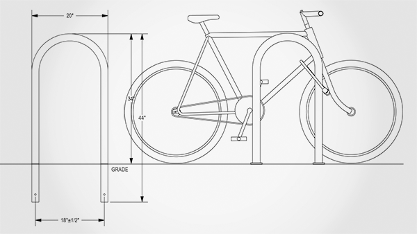 In ground vs Surface Mount Bike Rack