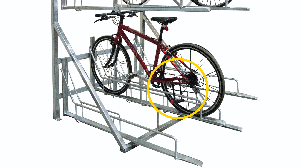 Lock Rack to Bicycle