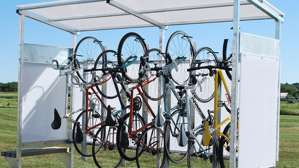Madrax Vertical Bicycle Storage Shed