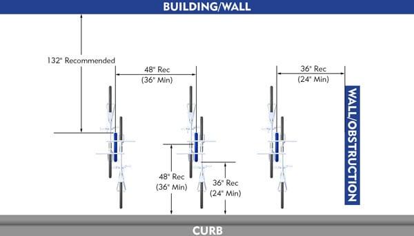 Perpendicular-Bike-Rack-Dimension-Layout