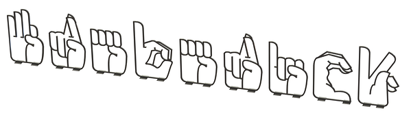 Sign Language Bike Rack