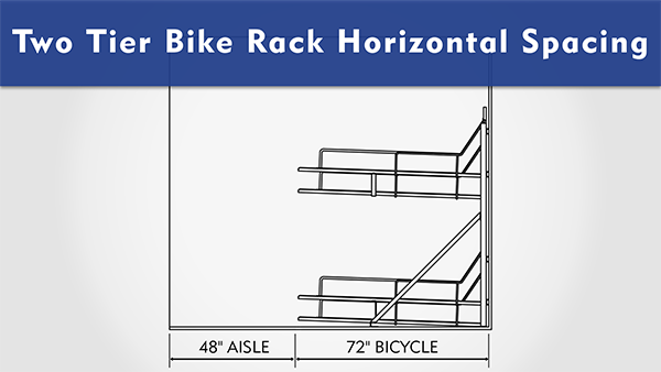 Two Tier Bike Rack Horizontal Spacing