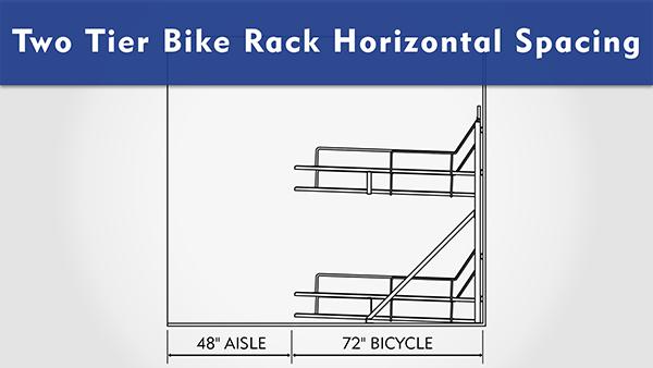 Two Tier Bike Rack Horizontal Spacing