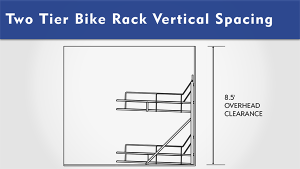 Two Tier Bike Rack Overhead Clearance