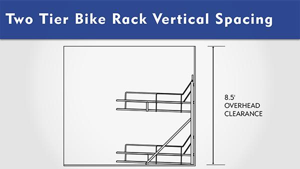 Two Tier Bike Rack Overhead Clearance