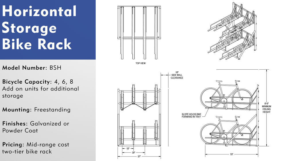 Two Tier Bike Rack Overview