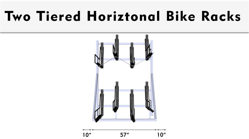 Two Tiered Bike Rack Spacing Dimensions