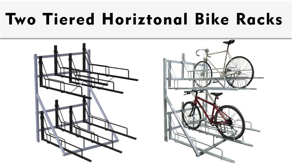 Two Tiered High Capacity Bike Storage Rack