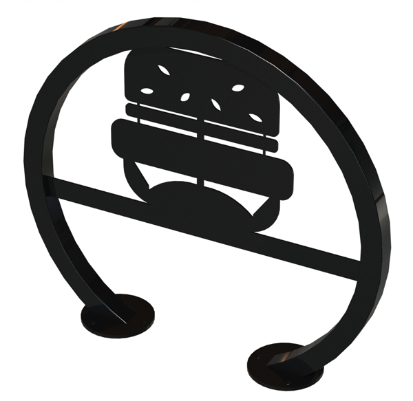 Burger Bike Rack