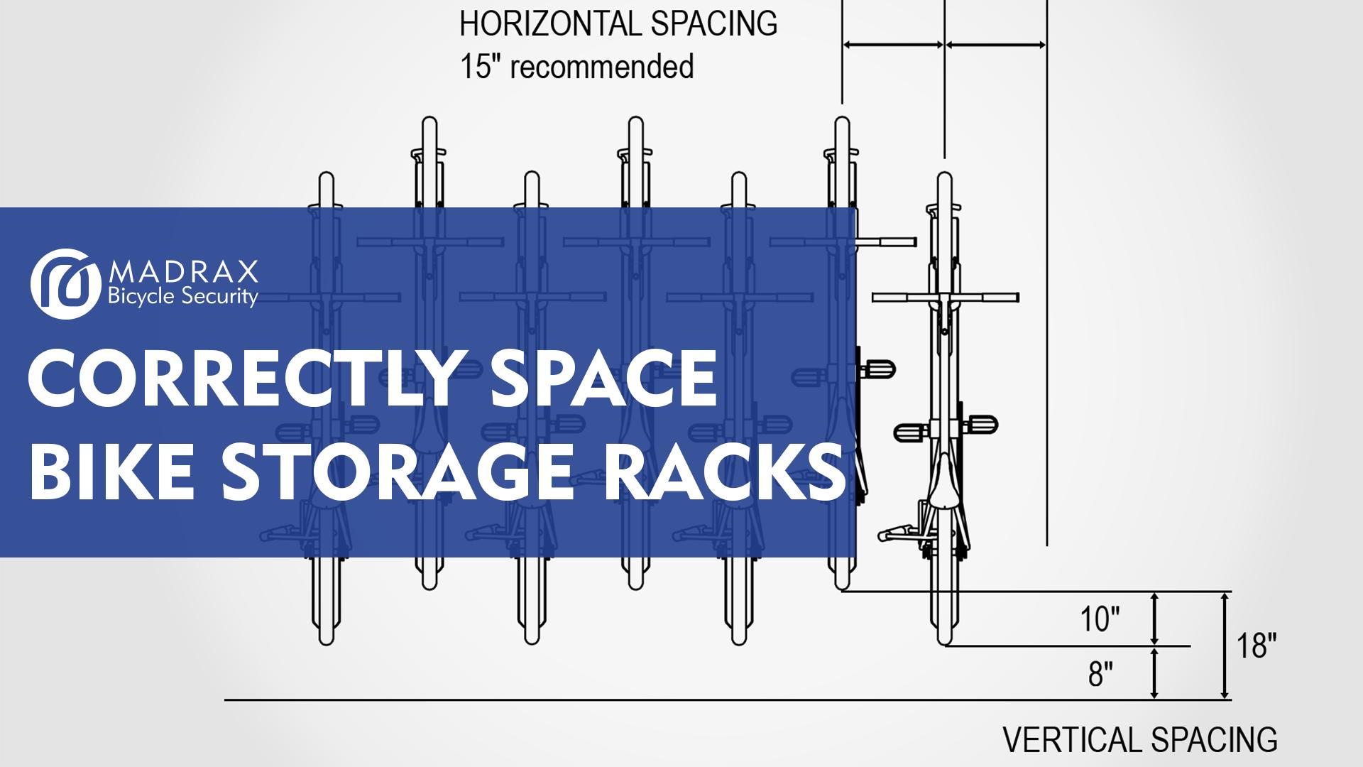 Correctly Space Bike Storage Racks Title