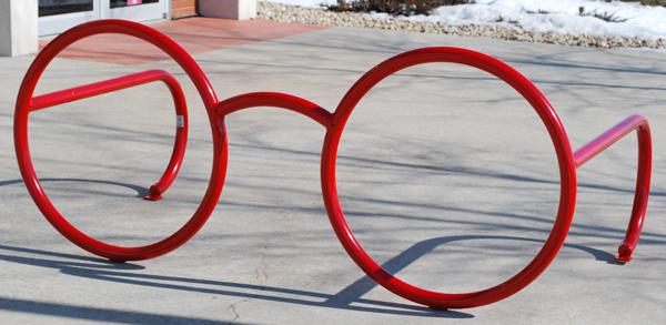 Glasses Bike Rack