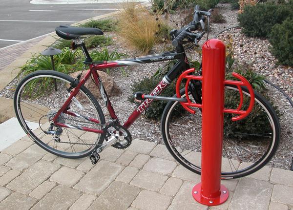 Company Logo Bike Rack