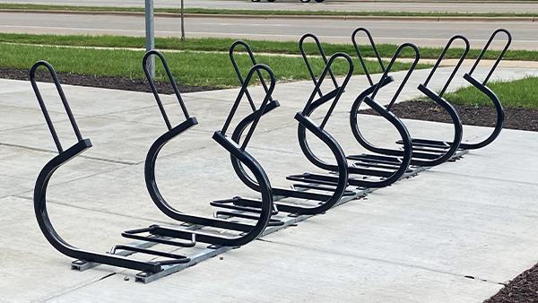 Sentry Bike Racks on Rails
