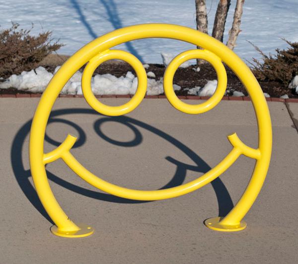 Smiley Face Bike Rack